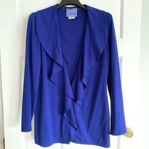 Royal Blue Women's Ruffle Blazer